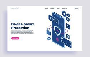 sécurité et protection des données confidentielles et contrôle d'accès concept vecteur