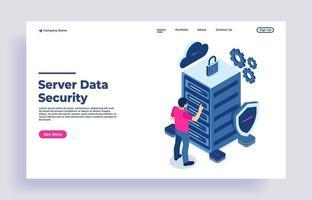 concept de protection des données de sécurité et sécurité confidentielle vecteur