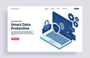 protection des données sécurité des données réseau et protection des données confidentielles vecteur