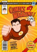Modèle de couverture de bande dessinée vecteur