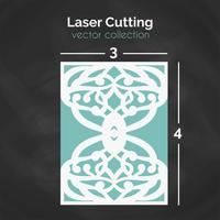 Carte découpée au laser. Modèle pour la coupe. Illustration de découpe. vecteur