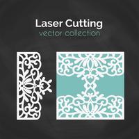 Gabarit découpé au laser. Carte pour la coupe. Illustration de découpe vecteur