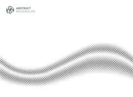 satin de soie vague abstraite sur fond blanc style demi-teinte vecteur