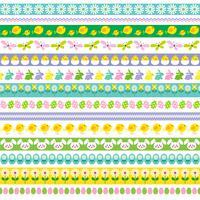 Clipart de frontières de Pâques vecteur