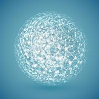Globe blanc connecté, illustration vectorielle
