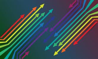 Fond de flèches colorées, vector