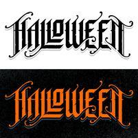 Halloween lettrage gothique dessiné à la main