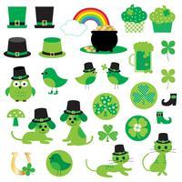 Saint Patrick's Day clipart mignon vecteur