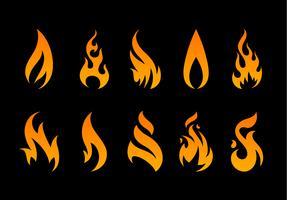 Formes de flammes vectorielles vecteur