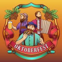 fond de célébration du festival oktoberfest vecteur