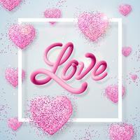 Amour, illustration de la Saint-Valentin