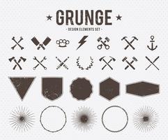 Éléments de conception grunge vecteur
