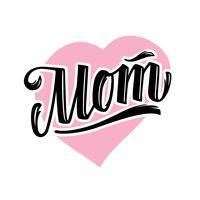 Lettrage de vecteur pour le style tatouage maman