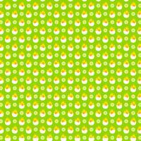 modèle de poussin bébé oeuf à couver sur fond vert vecteur