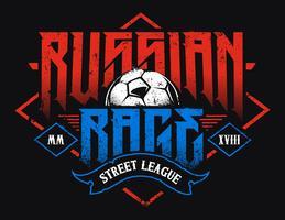 Typographie de la rage russe