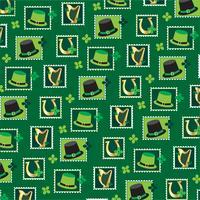 Modèle de timbre Saint Patricks vecteur