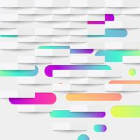 Abstrait coloré avec des boules et des lignes pour la publicité