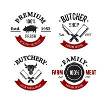 emblèmes de boucherie vintage