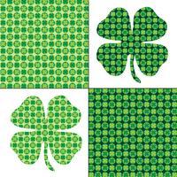Motifs de trèfle vert de la Saint Patrick vecteur