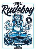 Jungle Rude Boy Ganesha Clipart vectoriel