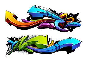 Flèches graffiti vecteur