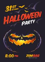 Affiche de fête d'Halloween vecteur