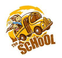 Vecteur d'autobus scolaire