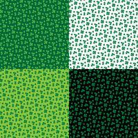 Saint Patrick's Day petits motifs de trèfle vecteur