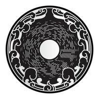 symbole d'éléments de design décoratif lune et nuages. vecteur
