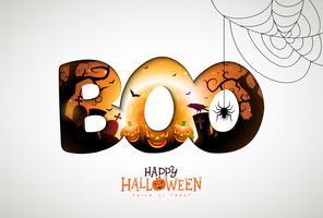 Boo, conception joyeuse Halloween