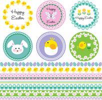 Cadres de Pâques et motifs de bordure