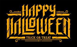 Joyeux Halloween gothique lettrage