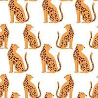 fond d'animaux léopard exotiques vecteur