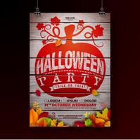 Illustration de flyer fête d'Halloween vecteur