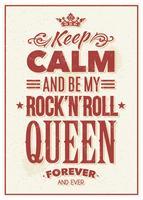 Typographie Rock Queen vecteur
