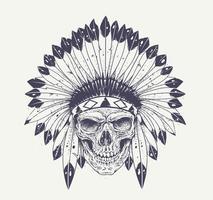 Art de crâne Dotwork vecteur