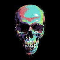Crâne graffiti peinture vecteur