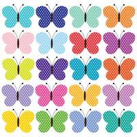 clipart papillon à pois