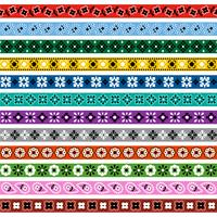 motifs de bordure de motif bandana vecteur