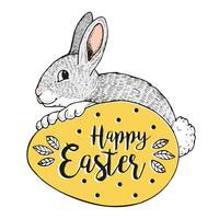 Bonne bannière de lapin de Pâques.