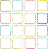 cadres carrés brodés vecteur