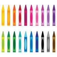 clipart couleurs crayon vecteur