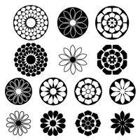 formes de fleurs silhouette noire