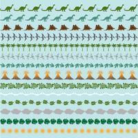 motifs de bordure de dinosaure vecteur
