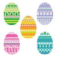 oeufs de Pâques à motifs