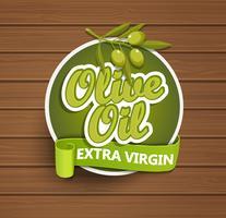 Etiquette vierge extra d'huile d'olive.