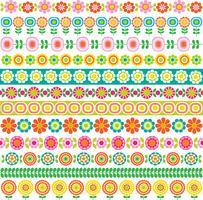 motifs de bordure de fleurs mod vecteur