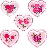 rose coeurs saint valentin clipart