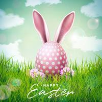 Illustration de joyeuses fêtes de Pâques