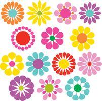 fleurs vectorielles simples vecteur